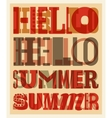 Summer typographic retro poster design vector image