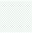 Tile mint dots pattern on white background vector image vector image