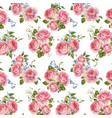watercolor rose pattern vector image