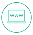 Website on laptop screen line icon vector image vector image
