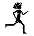 woman running - fitness icon vector image
