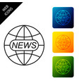 world and global news concept icon isolated world vector image