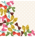 Background with abstract various bows and ribbons vector image