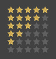3d five stars rating icon set isolated quality vector image