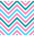 Cute tribal zig zag seamless pattern vector image