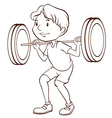 A simple sketch of a boy training vector image vector image