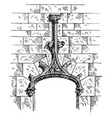 accolade mouldings vintage engraving vector image vector image
