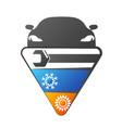 air conditioning auto repair vector image vector image