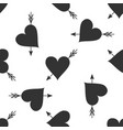 amour symbol with heart and arrow seamless pattern vector image vector image