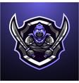 assassin head mascot logo