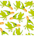 bird dinosaur pterodactyl patterncartoon vector image vector image