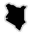 black silhouette of the country kenya with the vector image vector image
