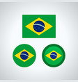 brazilian trio flags vector image vector image