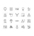 bridal shop line icons signs set outline vector image vector image