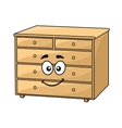 Cartoon wooden chest of drawers vector image