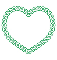 Celtic pattern green heart shape - love concept fo vector image vector image