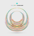 circle of distort colorful lines pattern vector image