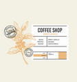 coffee package with text and coffee branch vector image vector image