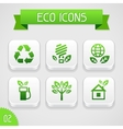 collection apps icons with eco elements set 2 vector image vector image