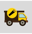 construction gear icon saw vector image