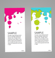 Design banner concept paint colorful