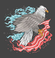 eagle usa flag fire vector image vector image
