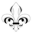 fleur de lys symbol vector image vector image