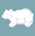 fluffy cloud in shape of friendly bear silhouette vector image vector image