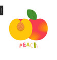 food patterns fruit peach vector image