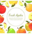 fresh apples banner template farm market organic vector image vector image