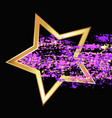 gold star with color trail vector image