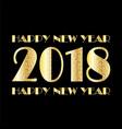 Gold white confetti and stars 2018 on black