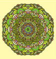 hand drawn mandala colorful template vector image