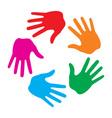 Hand Print icon logo vector image vector image