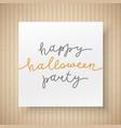 happy halloween party vector image vector image