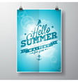 Hello Summer inspiration quote cloud background vector image vector image