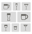 icons with different containers for drinks vector image vector image