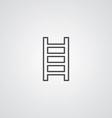 ladder outline symbol dark on white background vector image vector image