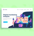 landing page template digital marketing analysis vector image