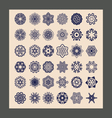 mandalas set Decorative ethnic vector image vector image