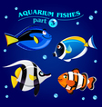 marine aquarium fishes vector image
