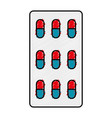 medical capsules isolated icon vector image vector image