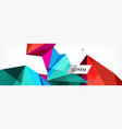 mosaic triangular low poly style abstract vector image vector image