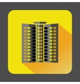 Multistory building icon flat style vector image