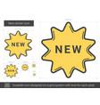 new sticker line icon vector image vector image