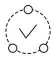 ok in circle thin line icon tick in circle vector image