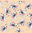 pattern from dogs vector image vector image