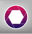 photo sign purple gradient vector image vector image