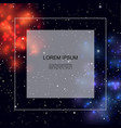 realistic colorful galaxy template vector image vector image