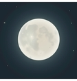 Realistic moon in the night sky vector image